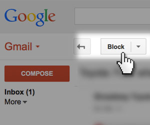 Block button in Gmail