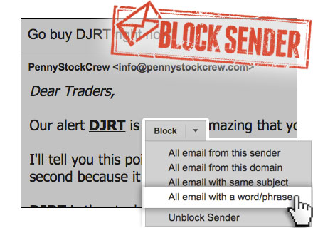 How to block email with a keyword in Gmail