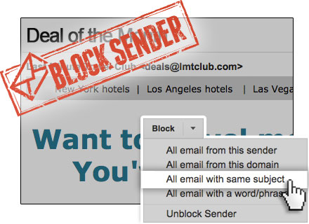 How to block newsletters from a website in gmail